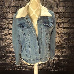 Max Jeans Sherpa collar denim jacket